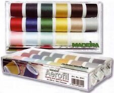 MADEIRA AEROFIL Sew tutti Assortimento BOX (8041) 18 x 200m BOBINE filati cucirini