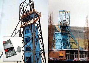 OO HO Gauge Coal Mine Gedling Colliery Pit Head Winding Gear model railway
