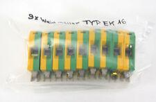 9 x Weidmüller Erdungsklemme TYP EK 16