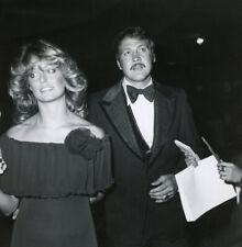 Farrah Fawcett & Lee Majors at the 1976 Emmy Awards Original Candid Photograph