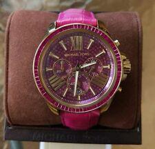 Sold Out Michael Kors Wren Pink Dial Glitz Wrist Watch MK2449 $350 Hard to Find