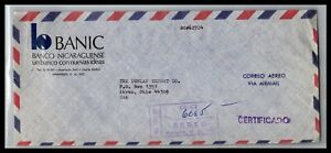 GP GOLDPATH: NICARAGUA COVER 1971 REGISTERED LETTER AIR MAIL _CV712_P13