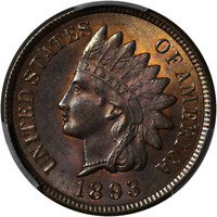 1893 Indian Cent PCGS MS64RB Great Eye Appeal Nice Luster Nice Strike