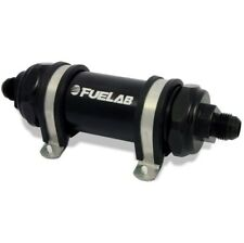 Fuelab 82802-1 In-Line Fuel Filter, Long Length, -8AN Inlet/Outlet NEW