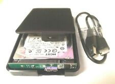 USB 3.0 External Hard Disk Drive 500GB in new HDD Enclosure Case Caddy Blk Slim