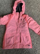 Girls Lands End Medium Insulated Jacket Coral Color