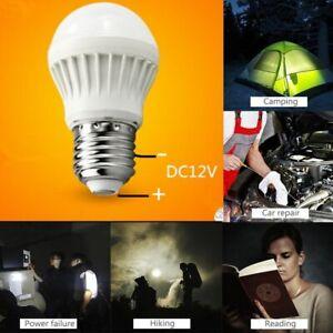 12X DC12V 3W LED Bulbs Lamp Home Camping Hunting Emergency Outdoor Light E27
