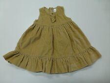 Gap Girls Size 12-18 Months Brown Velour Ruffle Bottom Dress Great Condition