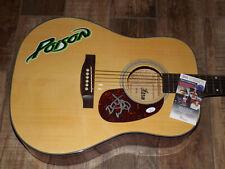 Bret Michaels Poison Signed Guitar JSA COA AUTOGRAPHED Acoustic
