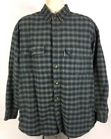 WoolRich Fishing/Casual Long Sleeve Button Up 2 Pocket Blue Plaid Men's XL