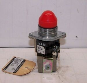 NEW GENERAL ELECTRIC HEAVY DUTY INDICATOR LIGHT 2940UD212B3 250 VDC RED LENS 350
