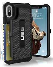 Urban Armor Gear UAG iPhone Card Trooper duro X COVER NERO SUPPORTO NUOVO 10