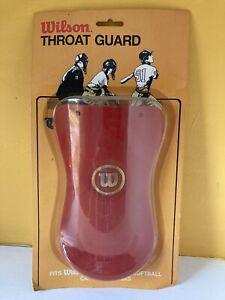 Vintage Wilson Catchers Throat Guard New NOS Red Baseball Softball A3820 USA
