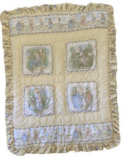 Vintage Quiltex Beatrix Potter Peter Rabbit Baby Crib Blanket Comforter & SHEET!