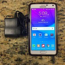 Samsung Galaxy Note 4 SM-N910V 32GB WHITE Verizon UNLOCKED T-Mobile AT&T #45