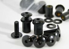 Dome Low Profile Windscreen Bolt Kit Black Aluminium Screws, Bolts, Well Nuts.