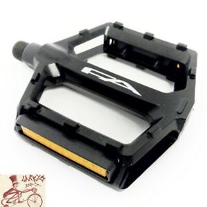 """FREE AGENT ALLOY PLATFORM BLACK 9/16"""" BICYCLE PEDALS--ONE PAIR"""
