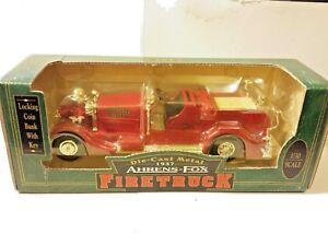 Ertl Volunteer Fire Dept. 1937 Ahrens-Fox Firetruck 1:30 Scale Die Cast