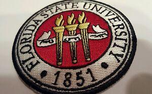 "Florida State University 1851 Embroidered Iron On Patch (LOGO) 3"" x 3"" FSU"
