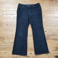 Sonoma Womens Corduroy Pants Blue Original Boot Cut Mid Rise Petite Sz 12 12P