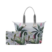 NEW TED BAKER LONDON PISTACHIO FORDABLE  TOTE SHOPPER HANDBAG WITH POUCH