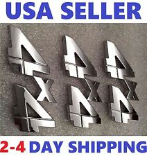 3X Chrome 4X4 EMBLEM 4 X 4 GMC Car TRUCK SUV LOGO DECAL SIGN Badge ORNAMENT .sx