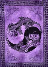 Indian Beautful Purple Color Dragon Desgin Wall Art Small Cotton Tapestry Poster