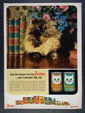 1964 Friskies Cat Food long hair cat photo vintage print Ad