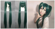 Master family MIKU dark green wigs two-tailed tigers folder clip cosplay wig A2#