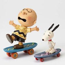 Jim Shore Peanuts 'Skateboarding Buddies' Charlie Brown and Snoopy 4054080