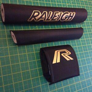 Mk2 Raleigh Burner Padset in BLACK - Mag/Chrome/Super - Straight Bar pad 10.5
