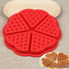 Heart Waffle Flexible Silicone Mold Ice Cube Candy Chocolate Cake Jelly Mould