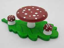Wooden Dolls House Furniture Mushroom table + Stools! Fits ELC/Plan toys houses