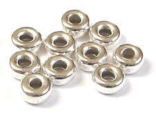 10 Stück Hohlringe Ø 4,5 mm 925 Silber Schmuckzubehör