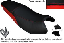 BLACK & RED CUSTOM FITS KYMCO PULSAR 08-13 DUAL LEATHER SEAT COVER ONLY