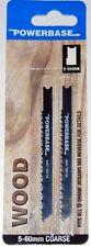POWERBASE JIGSAW BLADE SET - WOOD - U SHANK