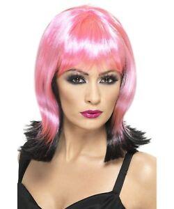 Sexy Smiffy's Wavy Pink & Black Fallen Pixie Costume Wig