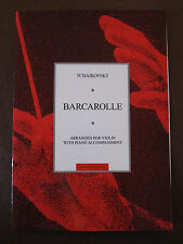 TCHAIKOVSKY Barcarolle arr. for Violin with Piano accompaniment pub. Chester