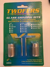 """3/4"""" Aanraku Twofers 2 bit set - Stained Glass Grinder Bits 100/120 Regular Grit"""