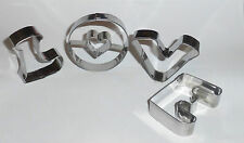 Cookie Cutters Stainless Steel Wedding Valentine Cake L O V E Icing Letter