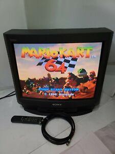 """1996 GAMING RETRO Vtg 20"""" SONY Trinitron CRT Tube KV-20S20 AV Video Gamer TESTED"""