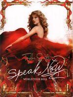 TAYLOR SWIFT 2011 SPEAK NOW WORLD TOUR CONCERT PROGRAM BOOK & POSTER / NM 2 MINT