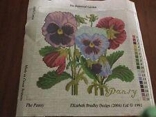 Elizabeth Bradley Needlepoint Canvas The Pansy The Botanical Garden England