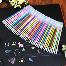 Gel Pens Glitter 48 Colors Coloring Drawing Painting Craft Markers Stationery YH