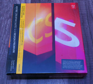 Adobe Design Premium CS5.5 BRAND NEW genuine sealed in box Windows 7-10