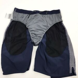 Nike Mens Shorts Large Nike Fit Dry Built in Brief Blue Polyester Spandex