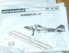 Dornier Do 27 Airmodell 1:72 Avión Conjunto 128 Kit Construcción sin Construir Å