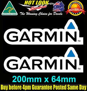 GARMIN Fishing Boat Stickers for 4X4 Caravan Camping Tandem Trailer Fridge Kayak