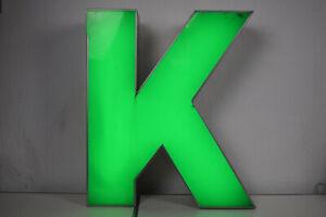 großer Buchstabe 'K' Leuchtbuchstabe Leuchtreklame Blech/Acryl Deko Reklame LED