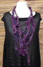 ZUZA BART*DESIGN HAND MADE AMAZING BEAUTIFUL QUIRKY WOOL NECKLACE***PURPLE***